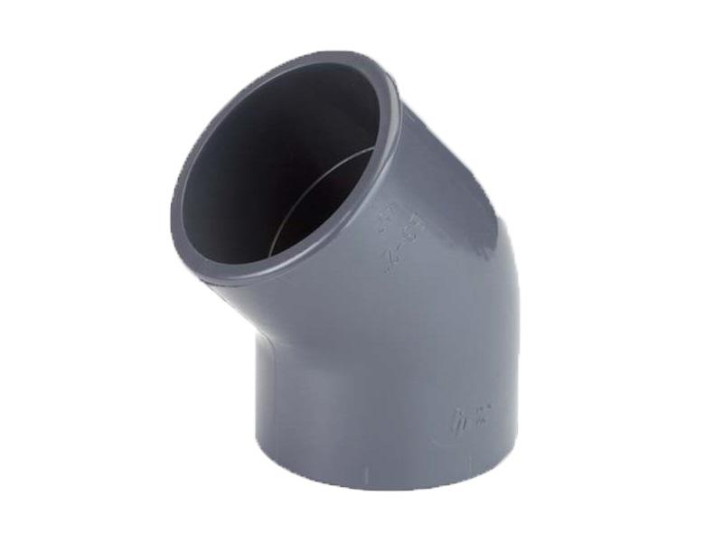 Druk PVC knie 45º