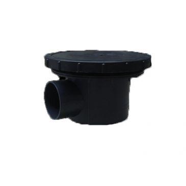 Beluchte bodemdrain met kamer 110mm. + 27cm. disk