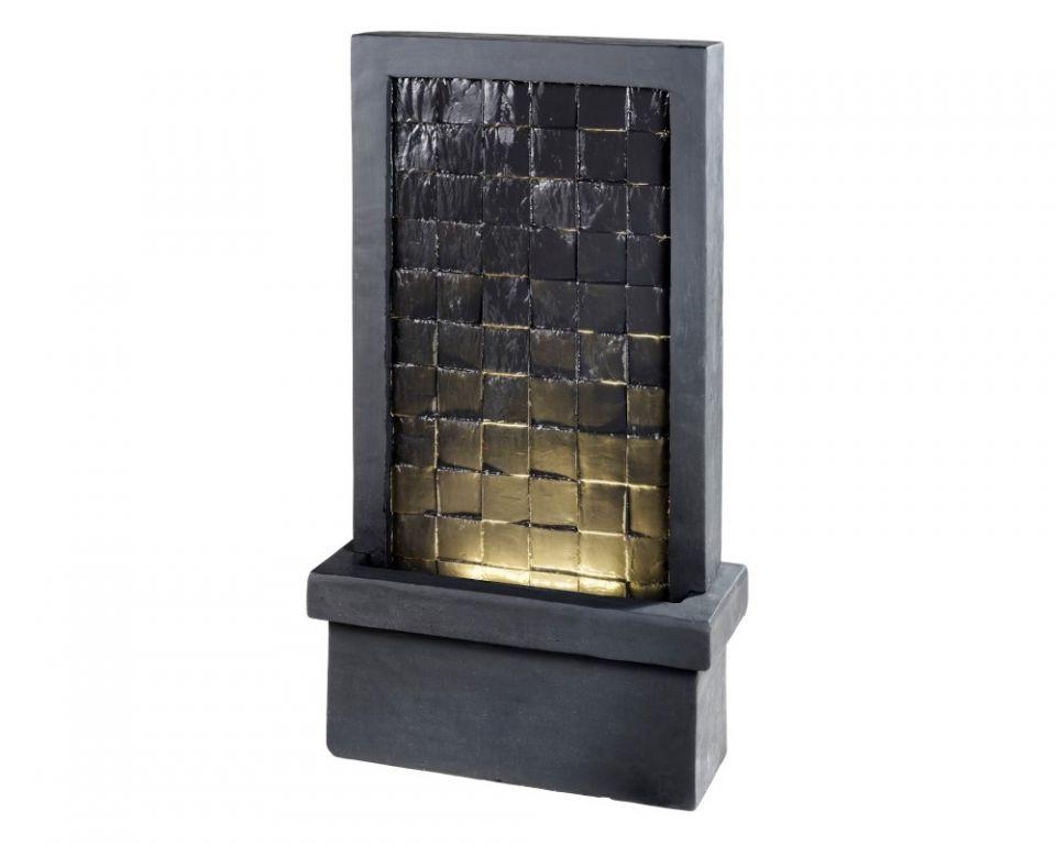 Waterornament Zwarte Tegel Structuur