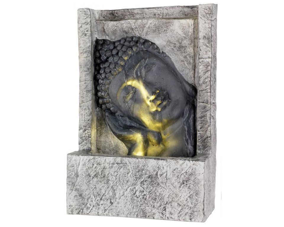 Waterornament Boeddha Grijs met Verlichting
