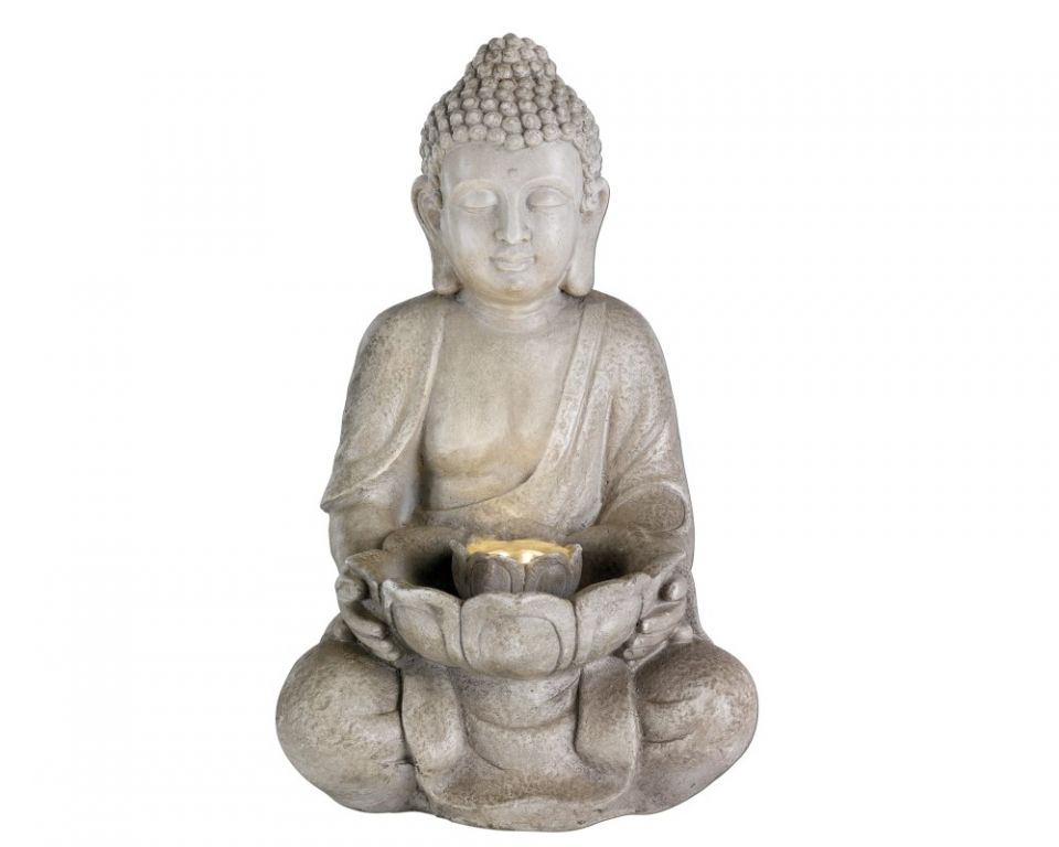 Waterornament Zittende Boeddha Zand