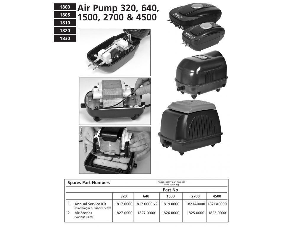 Onderdelen Hozelock Lucht Pomp (Air Pump) - 320 & 640 & 1500 & 2700 & 4500