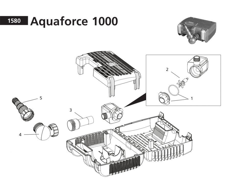 Onderdelen Hozelock Aquaforce 1000