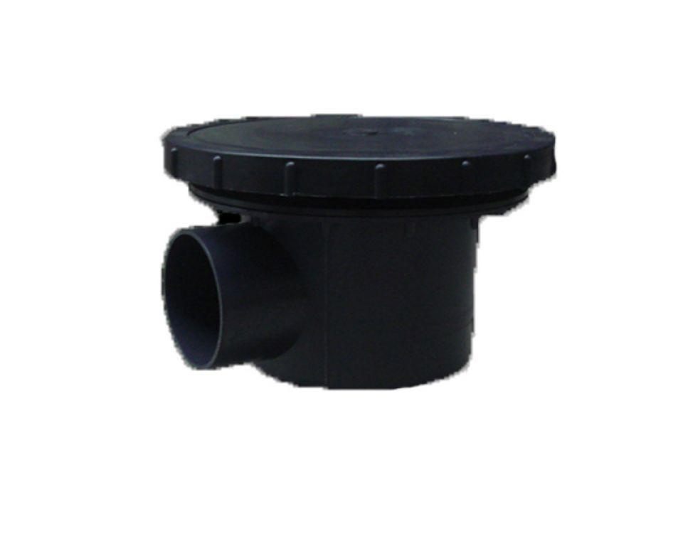 Beluchte bodemdrain met kamer 110mm. + 34cm. disk