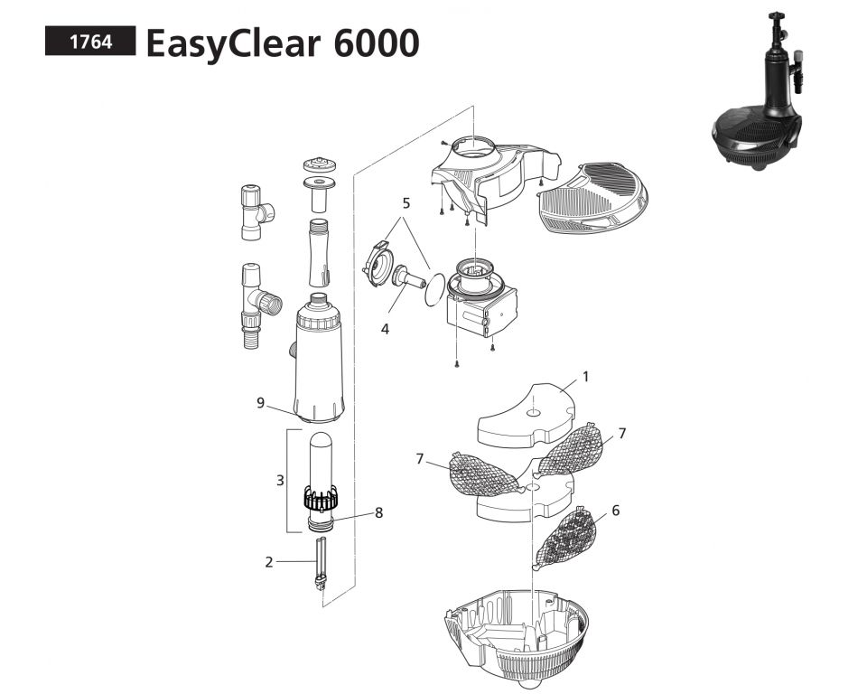 Onderdelen Hozelock Easyclear 6000