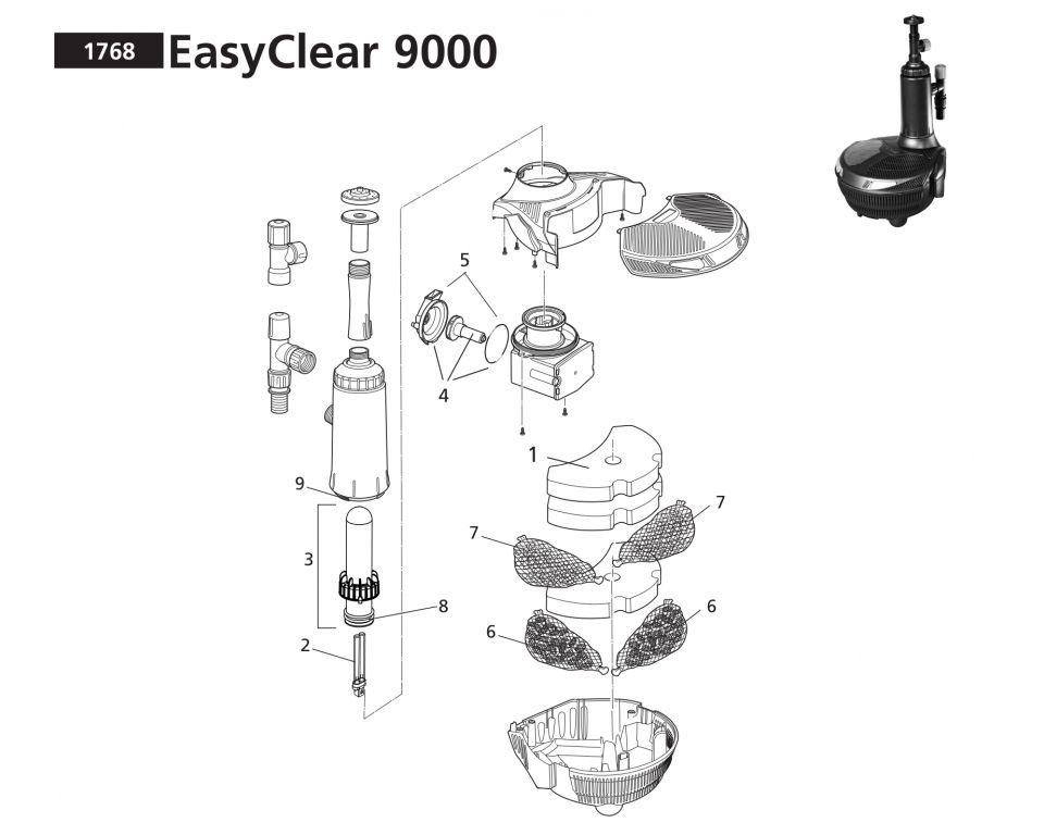 Onderdelen Hozelock Easyclear 9000