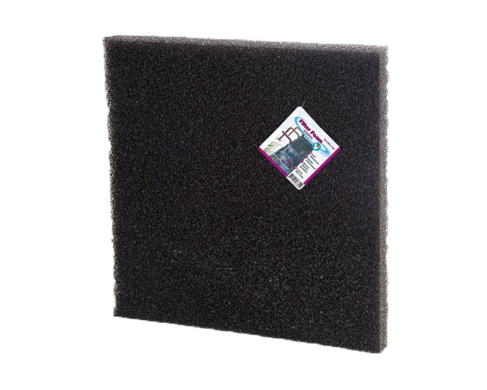 Filter foam black 50x50x2cm.