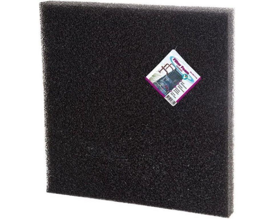 Filter foam black 50x50x5cm.