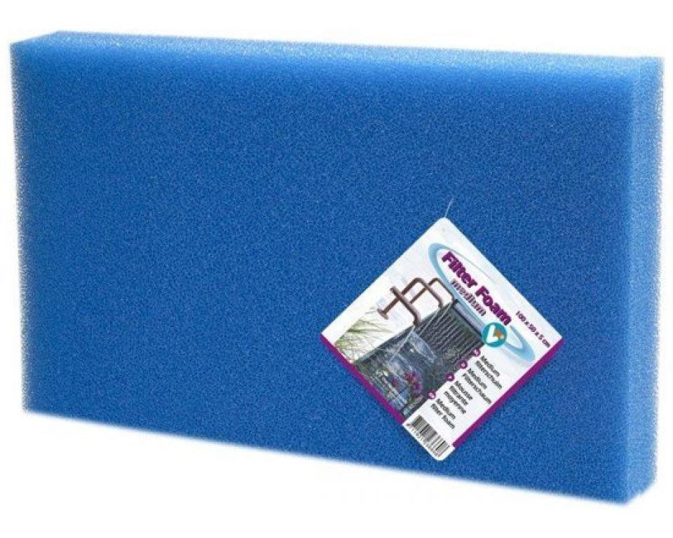 Filter foam blue 100x50x2cm.