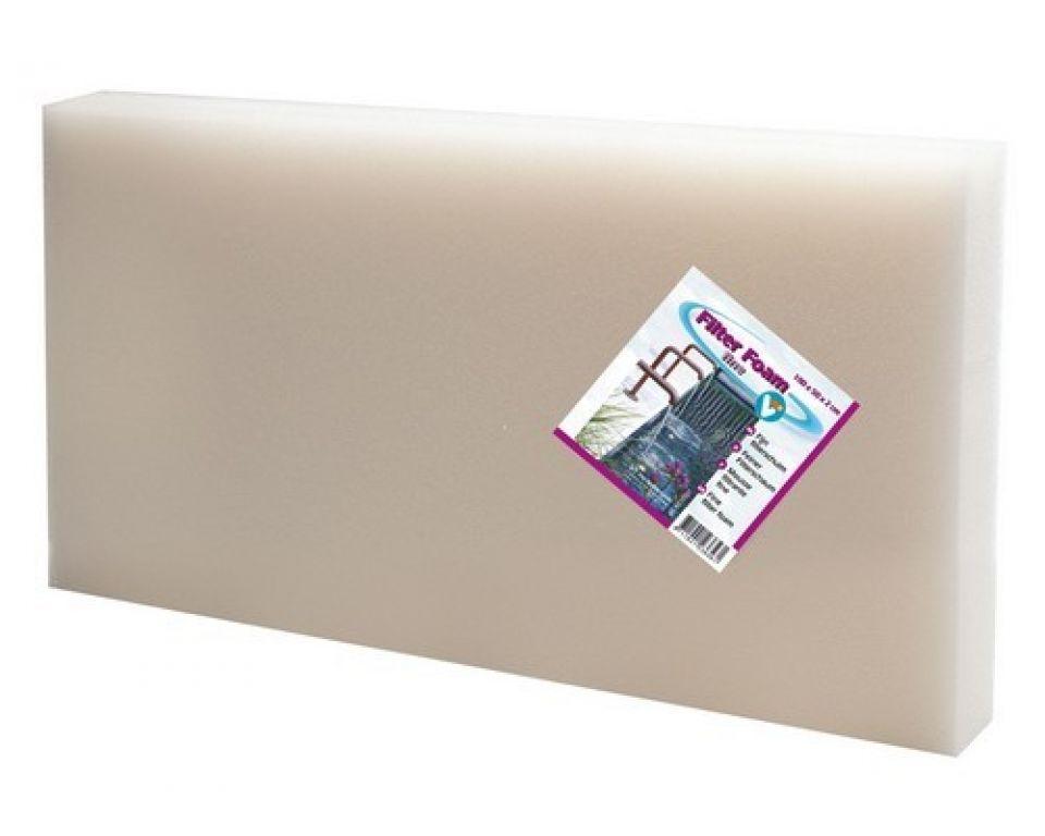 Filter foam white 100x50x5cm.