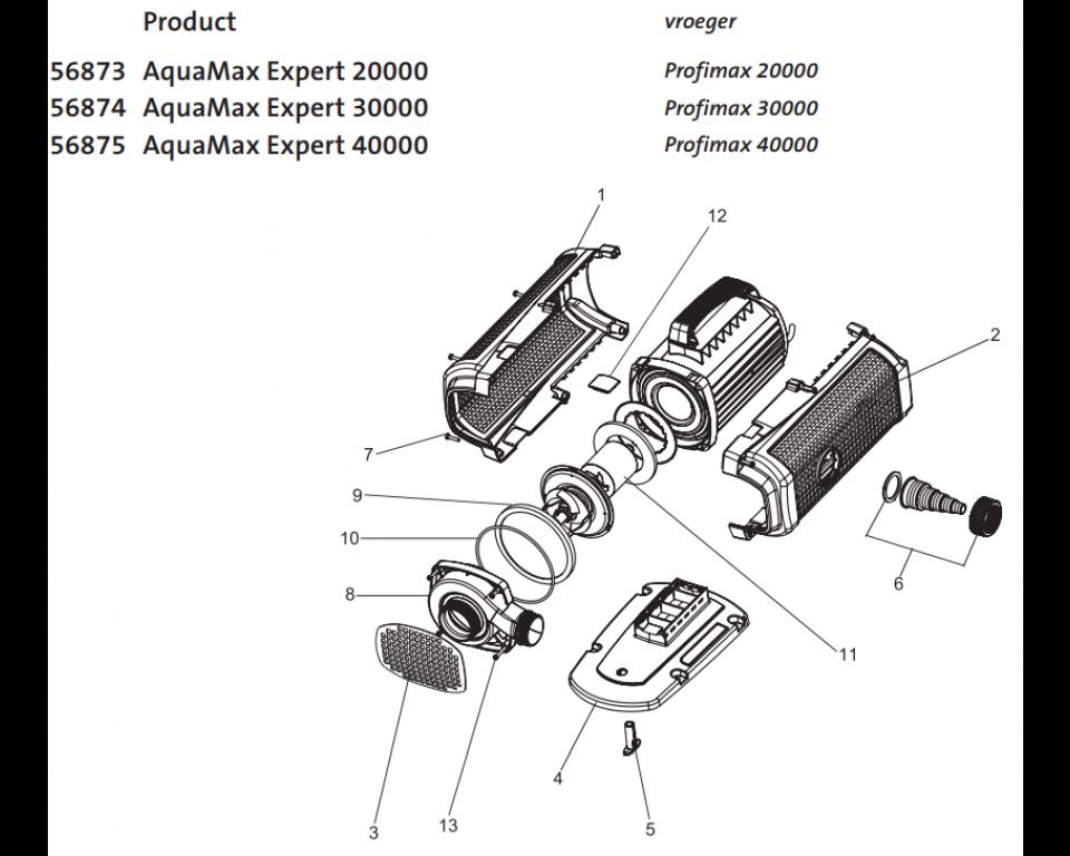 Onderdelen oase aquamax expert 20000