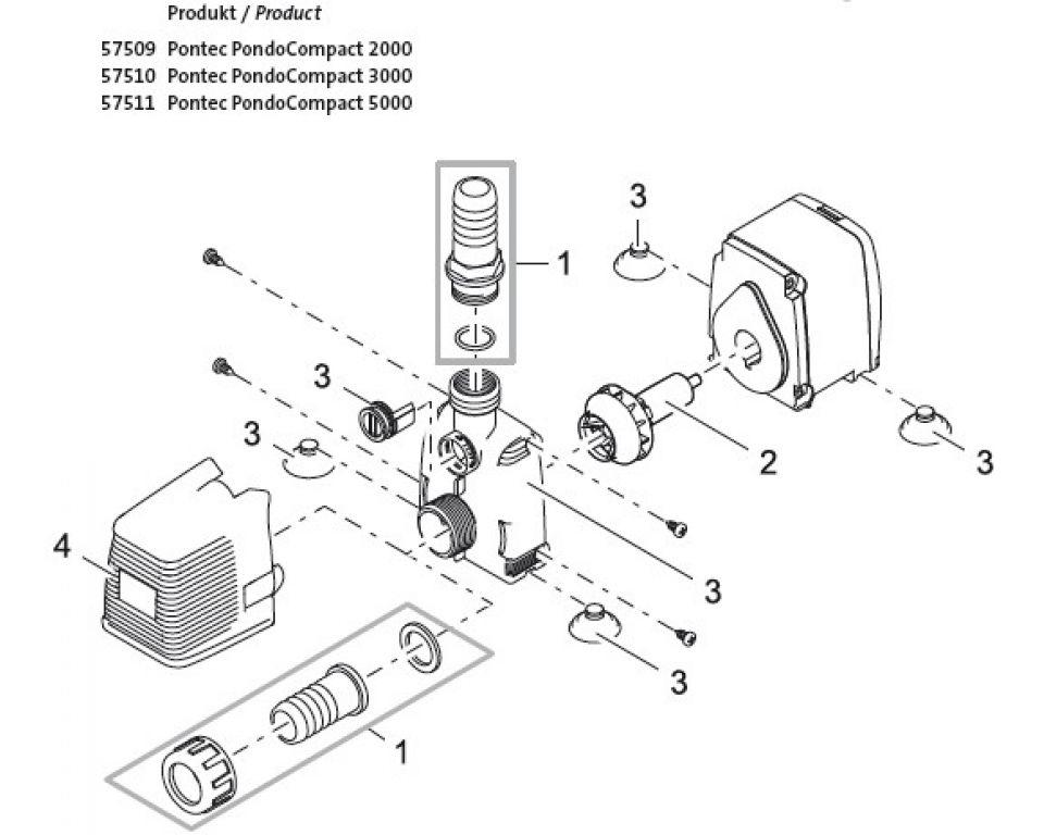 Onderdelen pontec pondocompact 2000