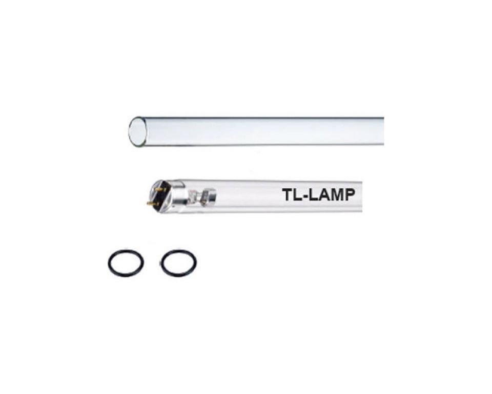 Set 55 watt (lamp/kwartsglas/o-ringen)