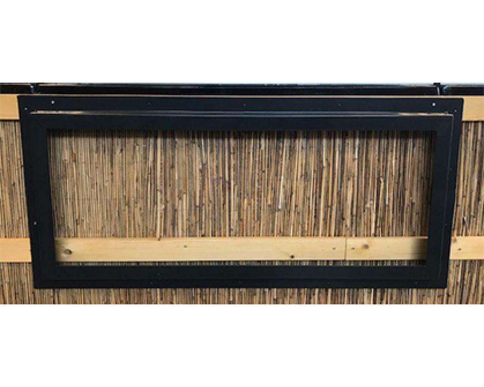 Vijverraam 50x120 antraciet gesloten model