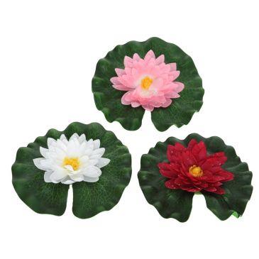 Drijvende Bloem Lotus met Blad Set van 3 Stuks