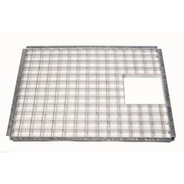 Metalen afdekrooster 71,5 x 41,5 cm