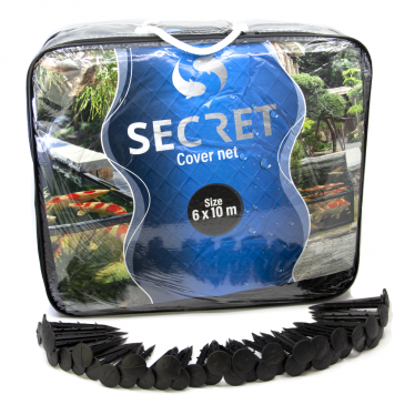 Secret cover net 6x10 meter - Vijver afdeknet - Vijvernet - Anti-reiger net