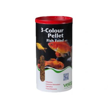 Velda 3-colour pellet food 2500ml.