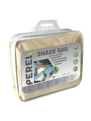 Perel Schaduwdoek Crème | Driehoekig Zonnezeil | 3,6 x 3,6 x 3,6 Meter | Tarp