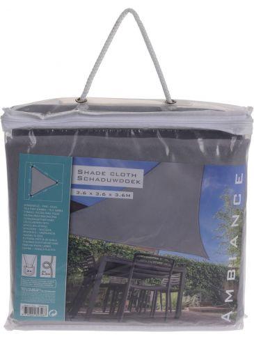 Schaduwdoek Driehoek Grijs | Driehoekig Zonnezeil | 360 x 360 x 360 cm